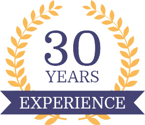 30 Years Experience badge